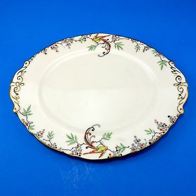 """Rare Oval Hand Painted Star Mark 1923-1933 Paragon Cake Plate 10 1/4"""""""