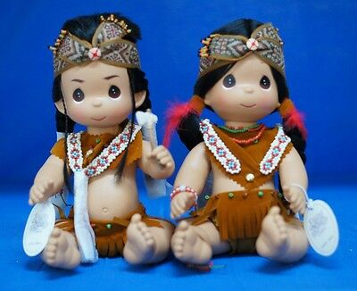"""Little Brave & Tender Heart 12"""" Doll Set Precious Moments 4428 4429 Signed"""