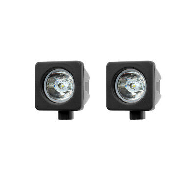 Pair Motorcycle 12 Volt LED Cube Spot Light with Wiring Kit Offroad Trail Bike