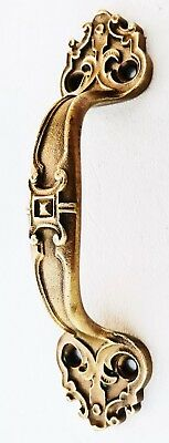 Brass French Victorian Antique Hardware Cabinet Handle Drawer Pull Grab Handle