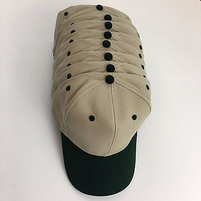 8 Brushed Bull Denim Cotton Baseball Caps Hats Blanks Khaki Green Otto 27-008