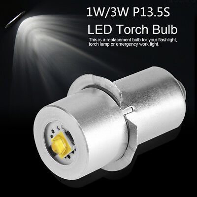 LED Flashlight Bulb Light P13.5S 3-24V 1W/3W/5W LED Flashlight Replacement Lamp