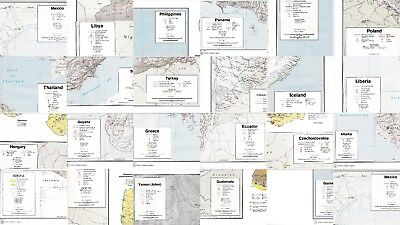 23 Different Countries Vintage Original CIA Maps 1972-74