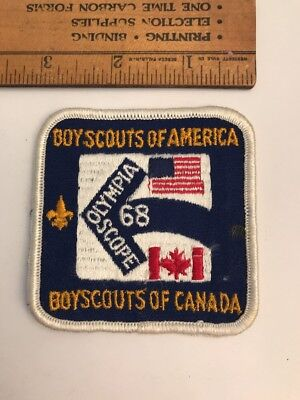 RARE 1968 PATCH BADGE Olympia Scope BOY SCOUTS Canada America BSA BSC