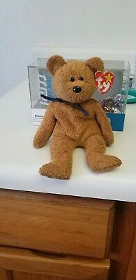 Ty Beanie Baby FUZZ 1998 The Bear With Tag ERRORS Plush Toy RARE NEW RETIRED