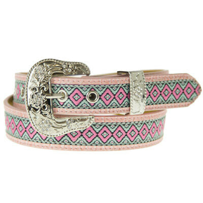 New Pink Aztec Style Belt - Ladies and Girls Sizes - 323 Ladies Western Bling Be