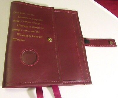 Alcoholics Anonymous AA Big Book &12 and 12 Deluxe Serenity BURGUN SOBER Cover