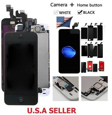 Lot LCD Touch Screen Digitizer For iPhone 5 5s SE 6 6s 7 Plus + Home Button Cam