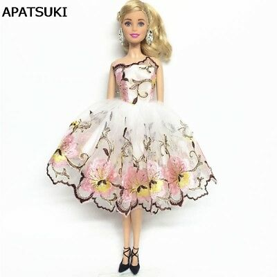 Flower Costume One-piece Dress For 11inch Doll 1/6 Fashion Party Dress Clothes