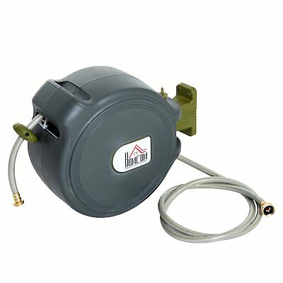 """65ft 1/2"""" Automatic Garden Hose Retractable Air Water Hose Reel 350 PSI"""