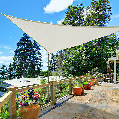 Triangle 13ft Sun Sail Shade Garden UV Block Sunshade Outdoor Lawn Shelter