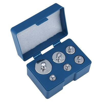 6Pcs/Set of 205g Chrome Calibration Weight for Digital Scale 5g 10g 20g 50g 100g
