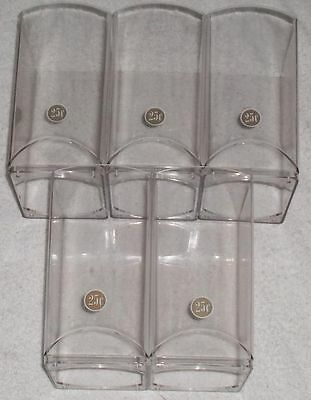 (5) 1-800 OEM Candy Machine Canisters + (5) Canister Bottoms for 1800 Vending