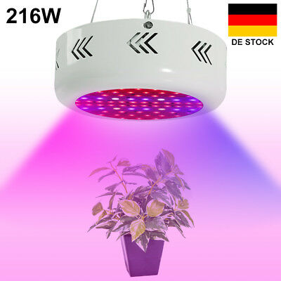 216W UFO LED Grow Pflanzen Lampe Blüte Wuchs Licht Hydr;oder led growroom Brille
