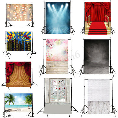 Uk 5X7Ft Flower Beach Backdrop Photography Studio Wall Floor Photo Background