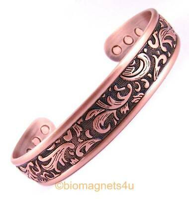 Large Nordic Bangle Pure Solid Copper Magnetic Healing Bracelet-Arthritis Relief