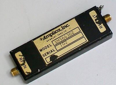 AMPLICA XM564302 7-12 ghz small signal microwave amplifier 33 db gain 16 dbm