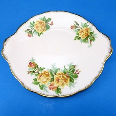 Royal Albert Yellow Tea Rose Cake Plate 9 3/4""