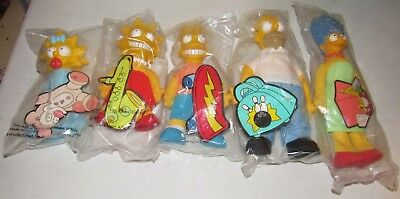 Vintage Set of Simpson's Toy Figures from Burger King 1990