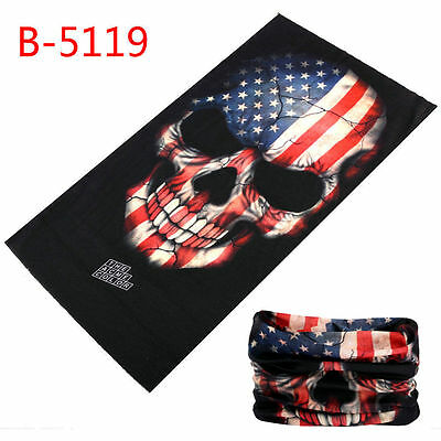 1x Biker Boyz SKULL RED /WHITE/BLUE USA Tube Cover Harley (T11) =SKULL  BOYZ SA