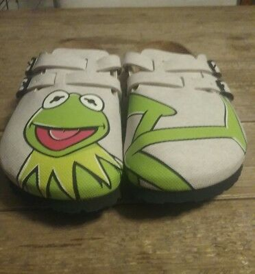 Rare Kermit the Frog Birkenstocks shoes L9 M7 NEW