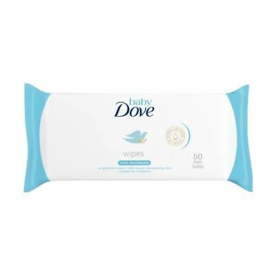 Dove Baby Rich Mositure Wipes 50's x 12