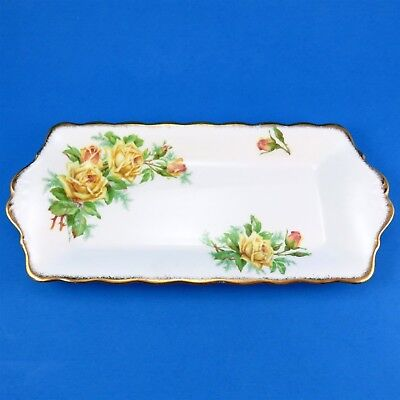 Royal Albert Yellow Tea Rose Sandwich Plate 11 1/4""