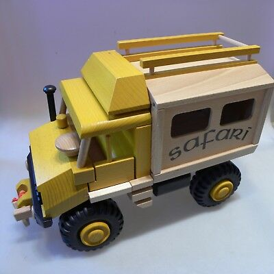 Uniwood 10029 Unimog Safari Truck Holzspielzeug Öko Made in Germany 39x18x27cm