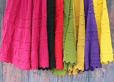 "Mexican ""Pico"" Skirt Grp #1 100% Cotton Falda - Frida Style Hippie Boho Cowgirl"