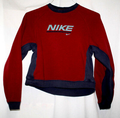 Nike Boys Small 4-6 Sweat Shirt Maroon Long Sleeved Crew Neck Pull Over