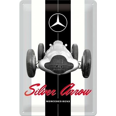 Nostalgic Art Blechschild 20x30 cm Mercedes Benz Silver Arrow Neu !!