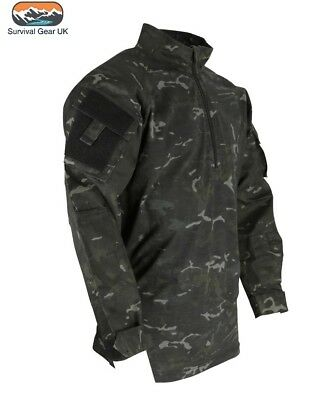 British Army Style Btp Black Camo Ubacs Shirt Latest Spec Ops Army (S-2Xl)