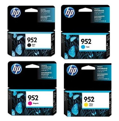 HP 952 4PK NEW GENUINE Ink Cartridges For Officejet 8710 8210 8720 8730 Series