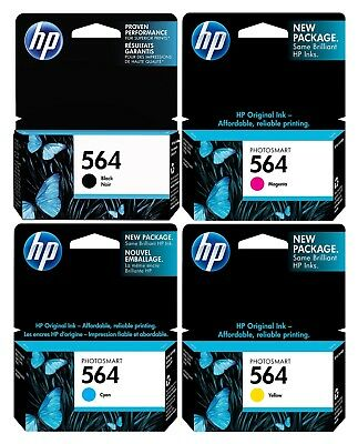 GENUINE NEW HP 564 Ink Cartridge 4-Pack