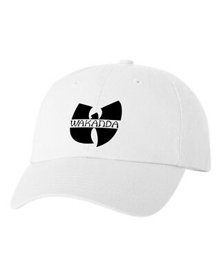 Wakanda Forever Custom Unstructured Hat Adjustable Cap Black Panther  New-White cdb87f4868e0