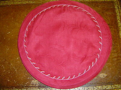 linen placemats, set of 2, 16 inch round