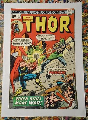 Thor #240 - Oct 1975 - Heimdall Appearance! - Nm (9.4) High Grade Pence Copy!