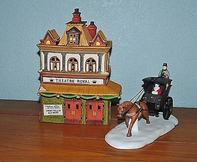 Retired Department 56~Theatre Royal & Kings Road Cab #55816 Dickens Village  Mib
