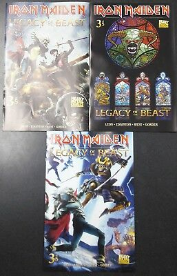 Iron Maiden Legacy of the Beast #3 Cover A B C 3 Comic Book Set Heavy Metal