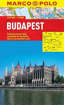 Budapest City Map - New - Marco Polo - Laminated - Pocket - Waterproof
