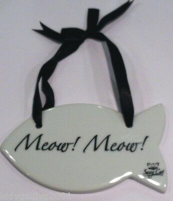 Sassy Cat Hanging Sign - 'Meow! Meow!'- FREE Shipping