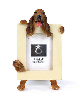 "E&S Imports Irish Setter 2 1/2"" x 3 1/2"" Picture Frame Cute Stand Dog Lover Gift"