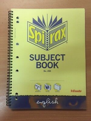 1 x Spirax Subject Book English misc