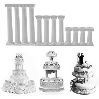 4Pcs Roman Pillars Cake Stand Holder Tier Separator Support Wedding Party Decor