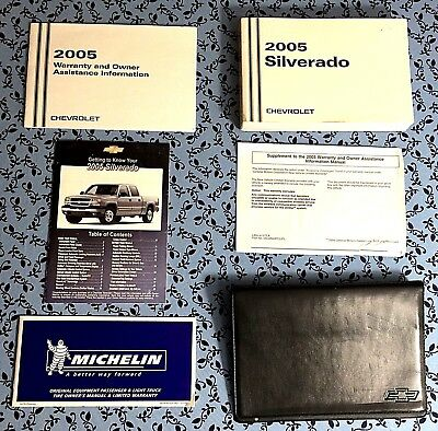 2005 chevrolet silverado factory owners owner s manual with case rh picclick com  2005 chevrolet 2500hd owners manual