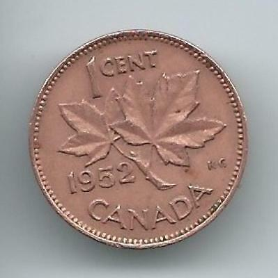 (HCW) 1952 Canadian 1 Cent Penny Coin Canada - Uncirculated Now *8012