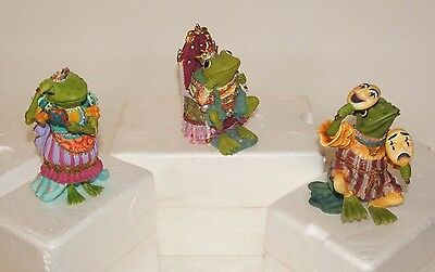 Camelot Frogs Sculpture Collection Lot of 3 in Original Boxes - Excellent!