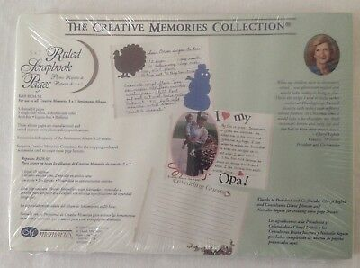 Creative Memories 5 x7 Ruled Scrapbook Pages