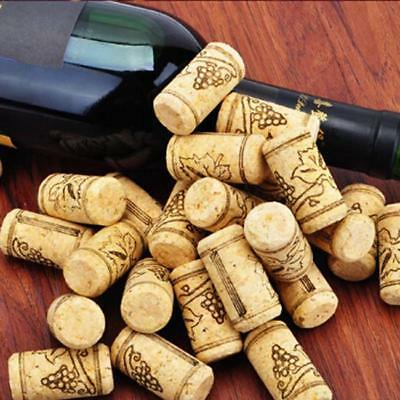 10pcs Grape Pattern Tapered Natural Cork Bottle Stoppers Wine Corks Crafts
