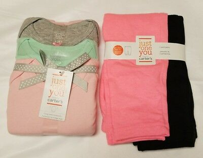 Baby Girls' 12m 18m 3pk Long Sleeve Bodysuit 2pk Pants Just One You by Carters
